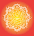 Mandala Round Ornament Pattern Vintage decorative vector image vector image