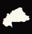 map burkina faso isolated vector image