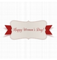 March 8 Womens Day festive realistic Banner vector image vector image