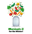 marinate vegetables background composition vector image vector image