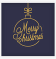 merry christmas logo round linear xmas lettering vector image vector image
