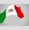 mexico flag on transparent background vector image vector image