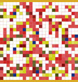 multicolored background of pixel squares vector image vector image