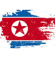 north korean scratched flag vector image