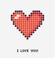 pixel heart Concept vector image vector image
