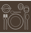 place setting vector image vector image