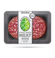 plant based meat in package isolated on white vector image