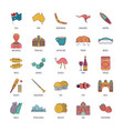 punch icons set cartoon style vector image vector image