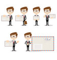 ready-to-use character set vector image
