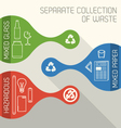 Recycling And Hazardous Waste banners vector image vector image