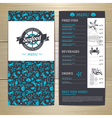 Seafood cafe menu design Document template vector image vector image