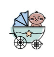 security stroller with bachild inside vector image vector image