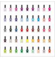 set nail polishes vector image