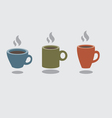 Set Of Hot Coffee Cup vector image vector image