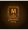 Shiny corporate style card with pattern vector image vector image