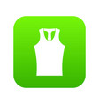 sleeveless shirt icon digital green vector image vector image