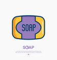 soap thin line icon vector image
