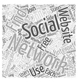 Social Networking Websites How to Find Them Word vector image vector image
