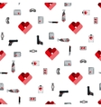 St Valentines Day Symbols mens Accessories vector image vector image