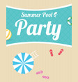 summer night beach party flyer vector image vector image
