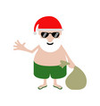 summer santa claus cartoon character vector image