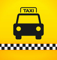 Taxi Cab Symbol on Yellow vector image vector image