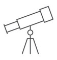 telescope thin line icon school and education vector image vector image