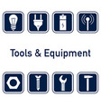 tools and equipment vector image vector image