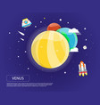 venus earth and mars of solar system design vector image vector image