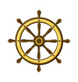 vintage ship wheel isolated on white background vector image vector image