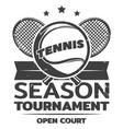 vintage tennis logo template vector image vector image