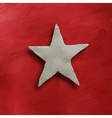 White star on red background vector image vector image