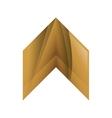 Wood Arrow icon Direction design graphic vector image vector image