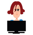 working woman on white background vector image vector image