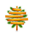 christmas wooden sign from five planks isolated vector image