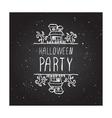 Halloween party - typographic element vector image