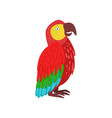 red macaw parrot vector image