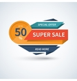 Super Sale banner template vector image