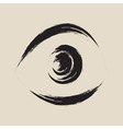 Black frightened eye vector image