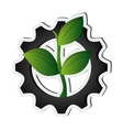 gear and leaf icon vector image