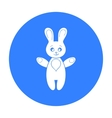 Rabbit toy icon in black style isolated on white vector image