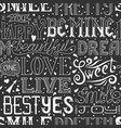seamless pattern with hand drawn words and phrases vector image