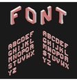 Isometric Latin Alphabet 3D Geometric Font Three vector image