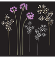 small flowers set vector image