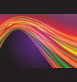 abstract colorful curve wave light violet vector image vector image