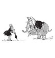 animal alphabet e elephant vintage vector image vector image
