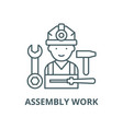 assembly work line icon linear concept