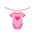 baby shower clothes hanging line celebration vector image vector image