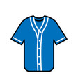 baseball shirt linecolor vector image vector image