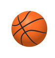 basketball ball on white backround vector image vector image